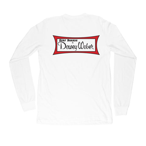 White Classic Logo Long Sleeve T-Shirt