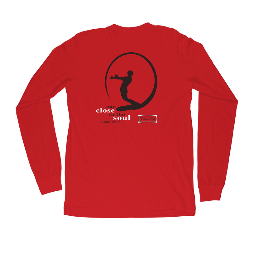 Red Icon Long Sleeve T-Shirt