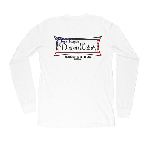 White USA Long Sleeve T-Shirt