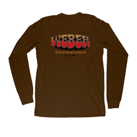 Brown 70s Long Sleeve T-Shirt