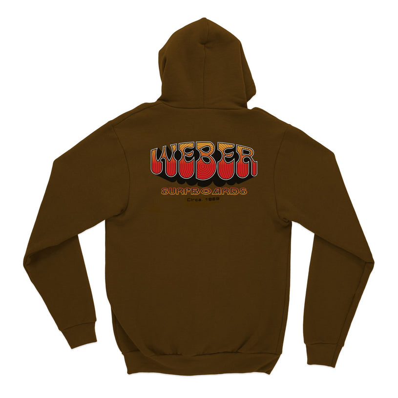 Brown 70s Hooded Sweatshirt