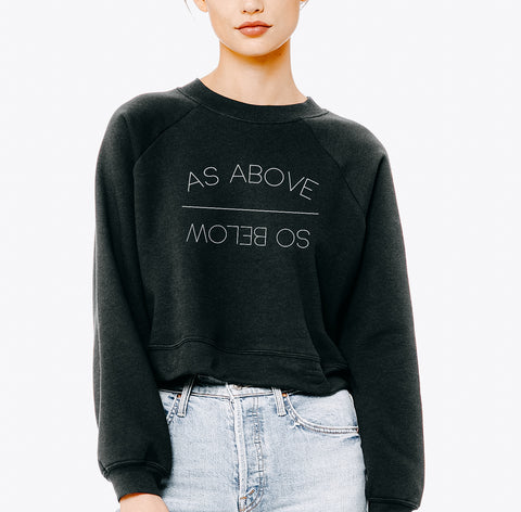 """As Above/So Below"" Modest Cropped Sweatshirt"