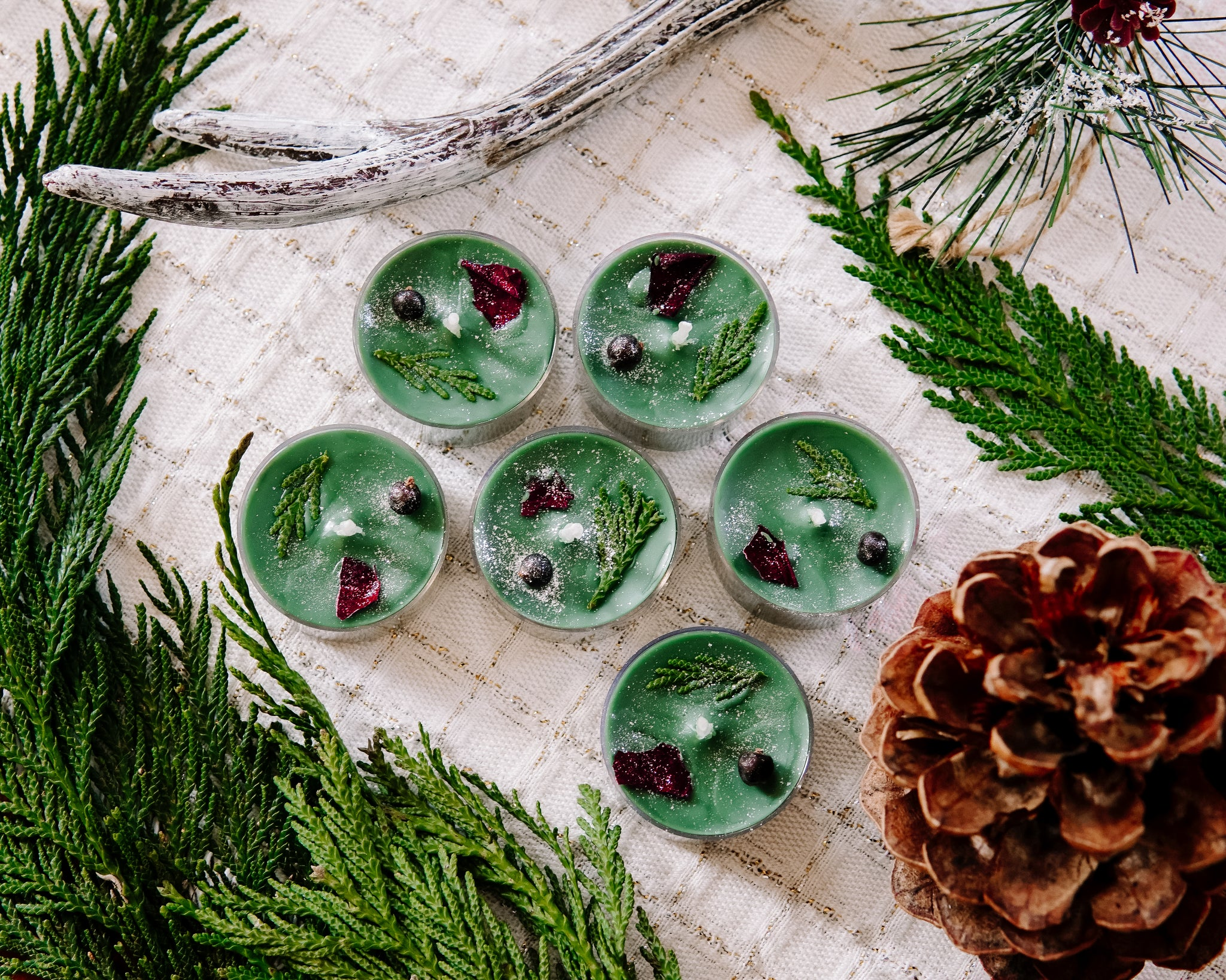 Balsam Fir Tea Light Candles
