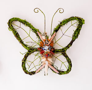Dried Floral Butterfly Wreath