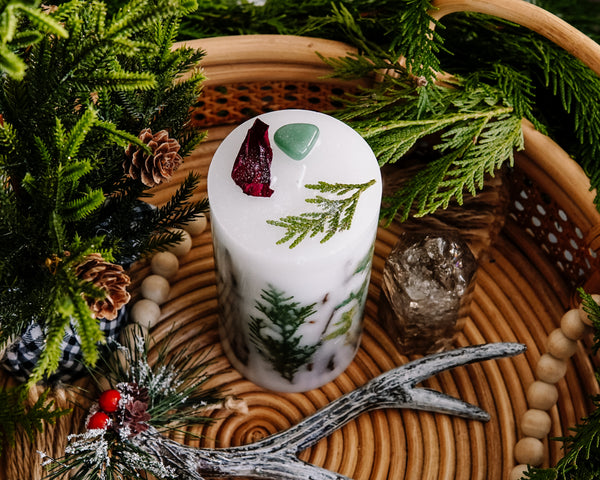 Unscented Winter Altar Candle