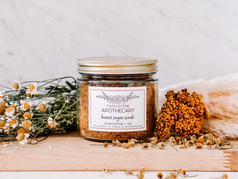 Chamomile & Fig Brown Sugar Scrub