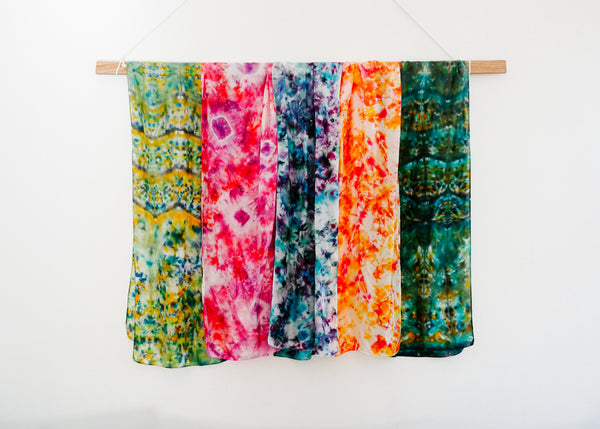 Hand-Dyed Silk Scarf