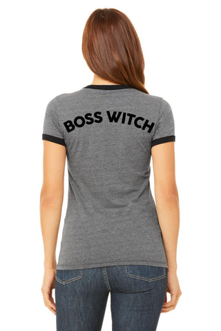 """Boss Witch"" Ringer Tee"