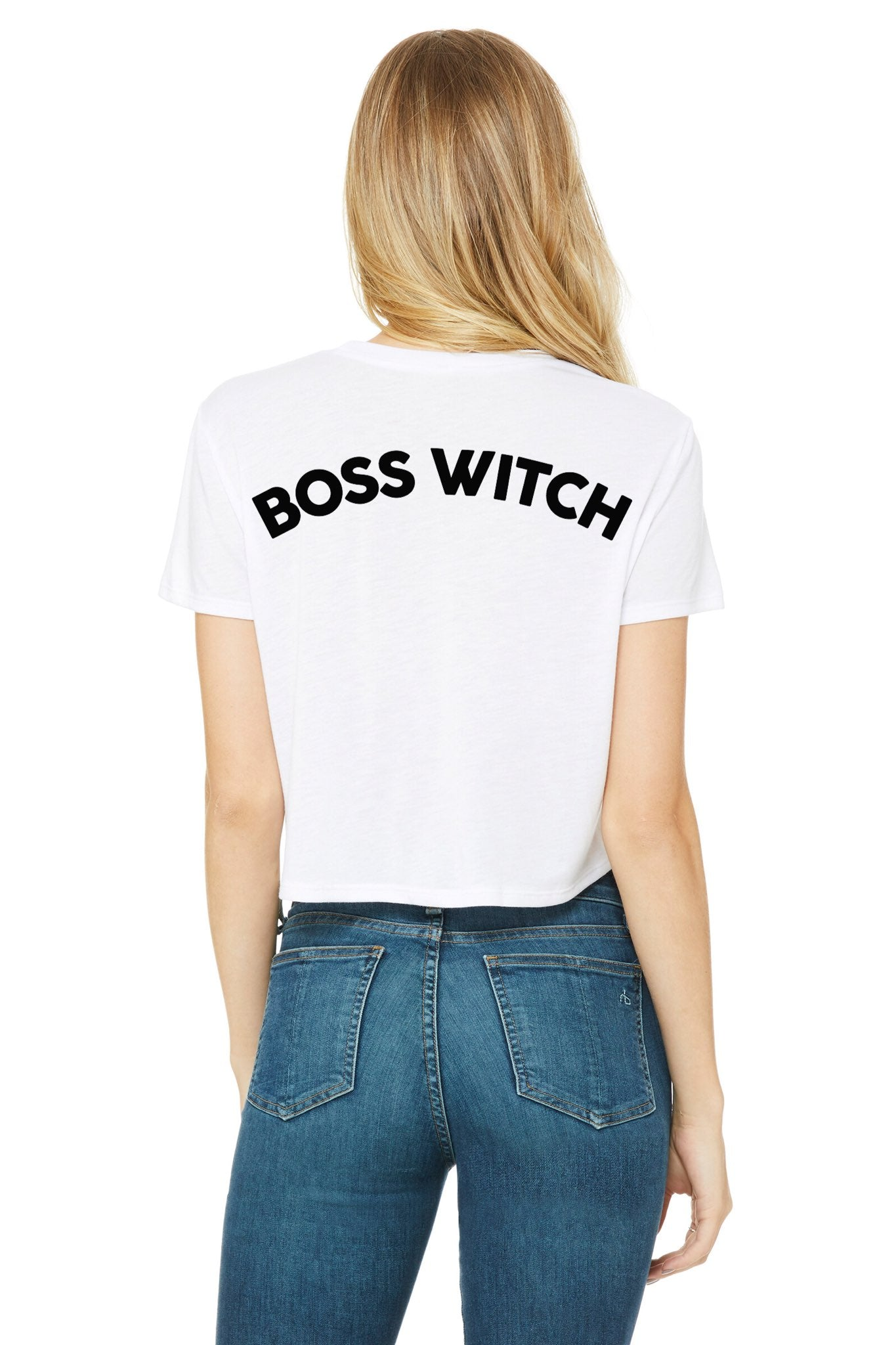 """Boss Witch"" Relaxed Cropped Tee"