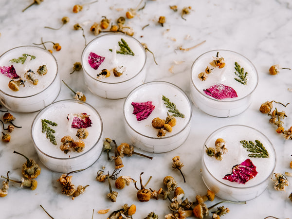 """New Beginnings"" Tea Light Altar Candles"