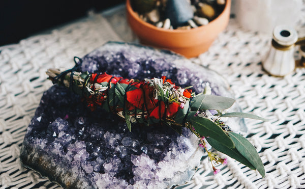 Eucalyptus, Lavender, & Rose Cleansing Wands