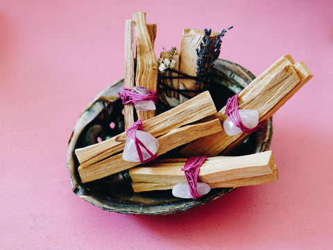 """Rule of Three"" Palo Santo & Rose Quartz"