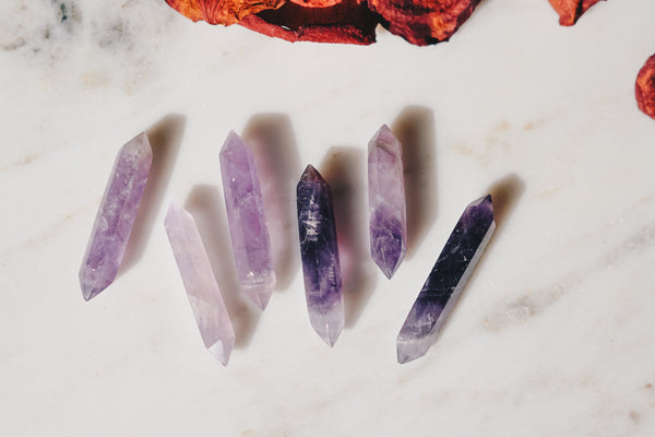 Double-Pointed Amethyst