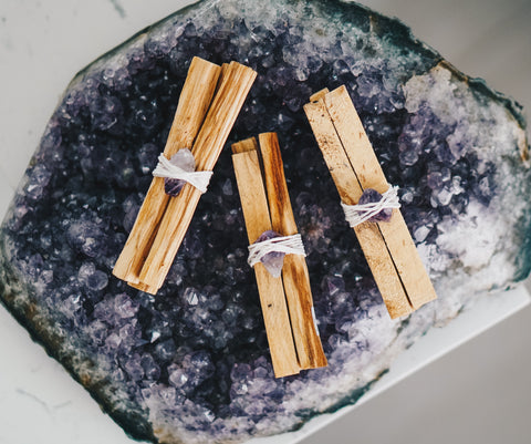 """Rule of Three"" Palo Santo & Amethyst"