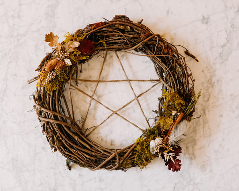 "Pentagram Wreath (13"")"