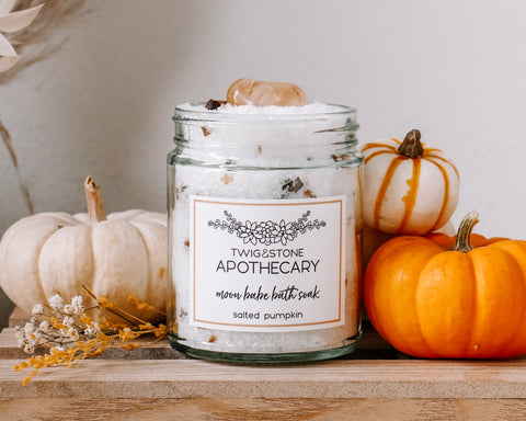 Moon Babe Bath Soak: Salted Pumpkin