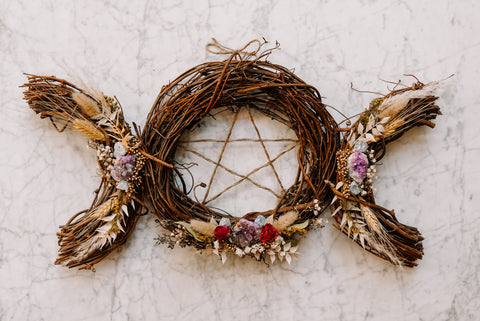 Triple Goddess Wreath