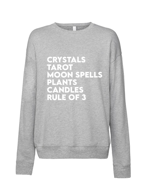"""Witchy Things"" Drop-Shoulder Unisex Sweatshirt"