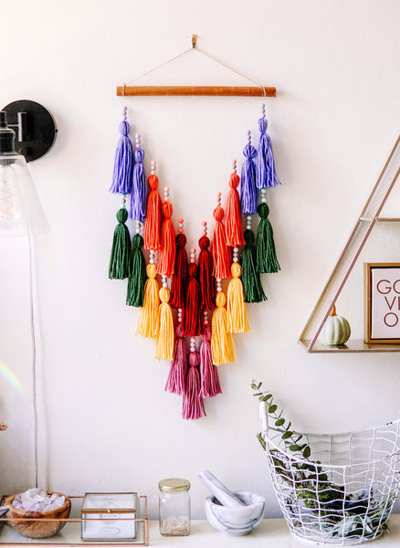 Rainbow Tassel Wall Hang (Benefiting Pride Month!)