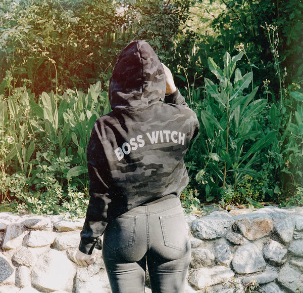 """Boss Witch"" Camo Hoodie"