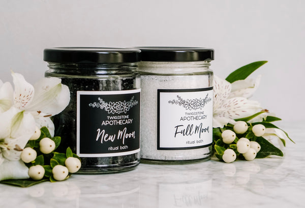 New Moon + Full Moon Ritual Bath Set