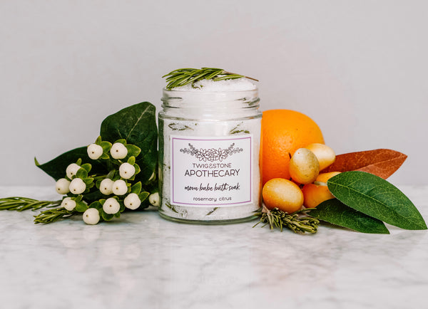 Moon Babe Bath Soak: Rosemary Citrus