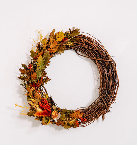 "15"" Dried Floral Wreath"