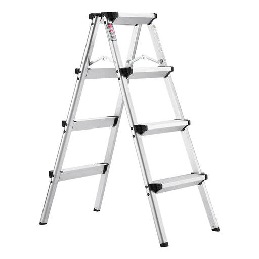 Finether Folding 4 Step Aluminum Ladder 300lb Capacity, Portable Step Stool for Home,Kitchen, Garden, Office, Warehouse-Finether