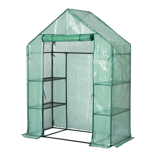 Finether 3-Tier Walk-In Greenhouse with 4 Mesh Shelves-Finether