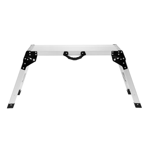 Finether Aluminum Work Platform Drywall Step up Folding Work Bench|Portable Stool Ladder with Non-Slip Mat and Side Handle-Finether