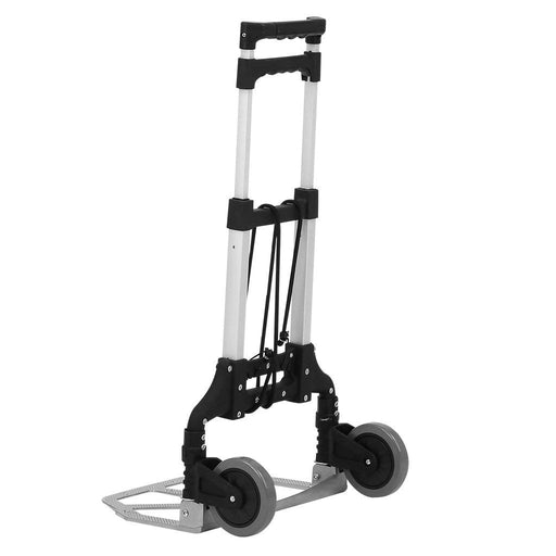 Finether Folding Hand Truck Dolly, 80Kg/176.4 lbs Heavy Duty 2-wheel Aluminum Cart Compact and Lightweight for Luggage, Travel, Auto, Moving and Office Use-Finether