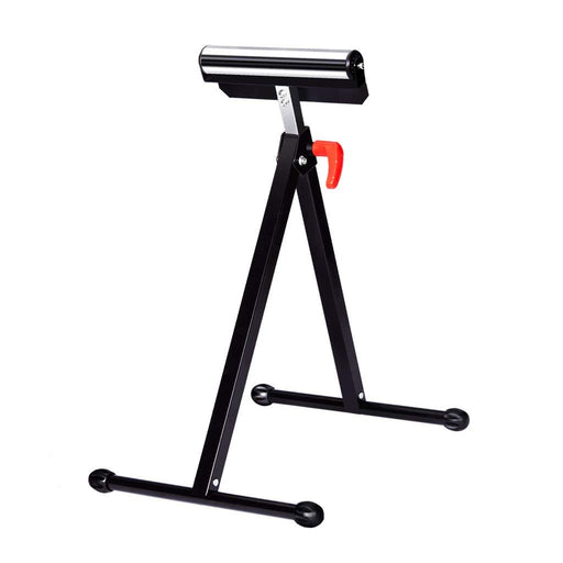 Finether Height Adjustable Folding Roller Stand, Pedestal with Ball Bearing Roller, Works with Table Saws, Miter Saws, Planers and Jointers for Log, Timber, Firewood and Metal Material, 132 lbs Capacity-Finether