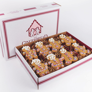 Gingerbread Cookie 24-Pack Gift Box The Gingerbread Construction Co.