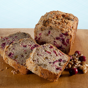 Cranberry Walnut Muffin Loaf