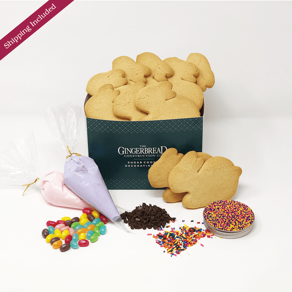 Bunny Sugar Cookie Decorating Kit The Gingerbread Construction Co.