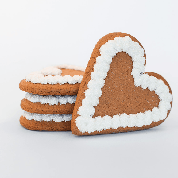 Wedding Heart Gingerbread Cookie