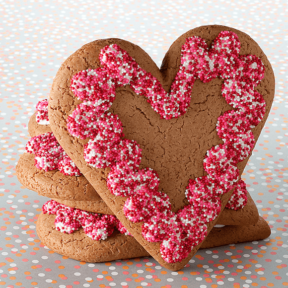 Heart Gingerbread Cookie The Gingerbread Construction Co.