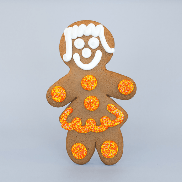Jumbo Fall Gingerbread Cookie - Girl