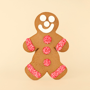 Jumbo Valentine's Day Gingerbread Cookie - Boy