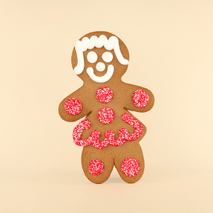 Jumbo Valentine's Day Gingerbread Cookie - Girl