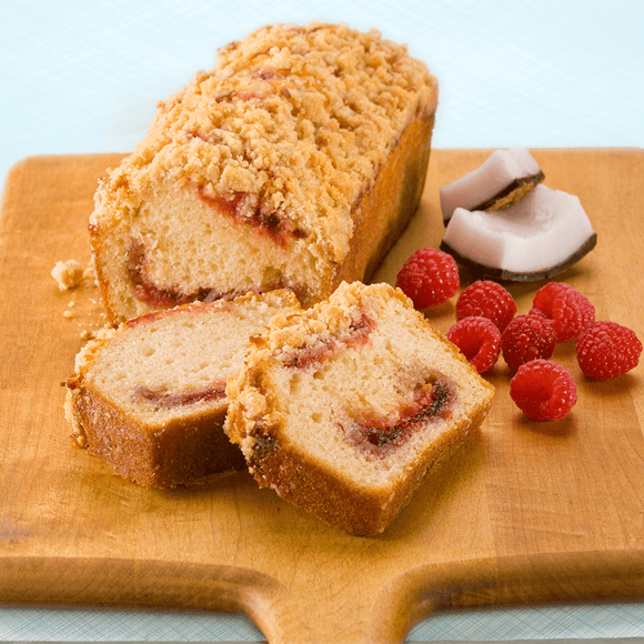 Razberry Coconut Muffin Loaf