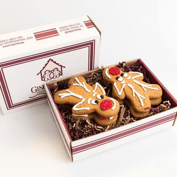 Reindeer Gingerbread Cookie Gift Box (Limited Edition) The Gingerbread Construction Co.