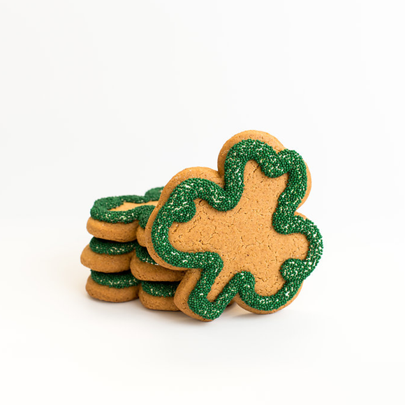 Shamrock Gingerbread Cookie The Gingerbread Construction Co.
