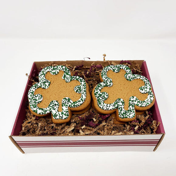 Shamrock Gingerbread Cookie Gift Box The Gingerbread Construction Co.