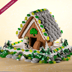 St. Patrick's Day Gingerbread House - Small