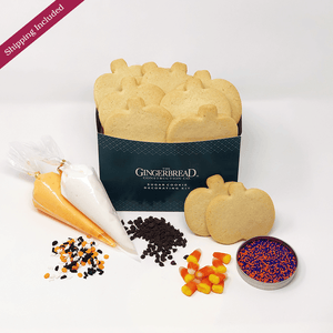 Pumpkin Sugar Cookie Decorating Kit The Gingerbread Construction Co.