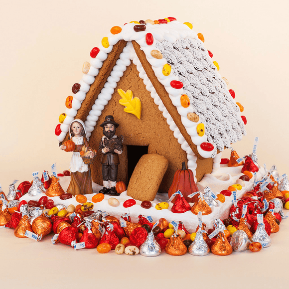 Thanksgiving Gingerbread House - Medium