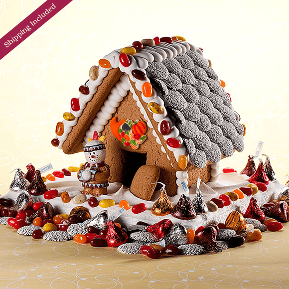 Thanksgiving Gingerbread House - Small