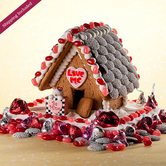 Valentine's Day Gingerbread House - Small