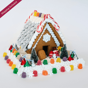 Winter Scene Gingerbread House - Small